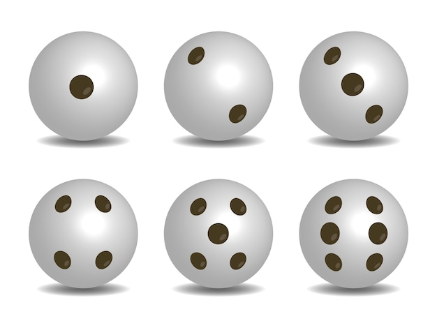 3d white color vector dice