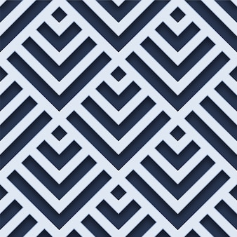 3d white geometric seamless pattern