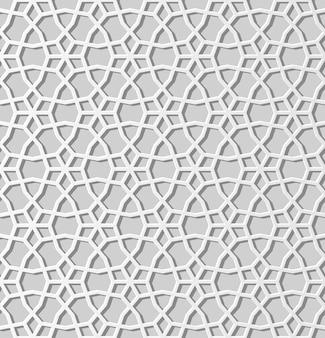 3d 백서 예술 이슬람 기하학 패턴 완벽 한 배경, 세련 된 장식 패턴 크로스.