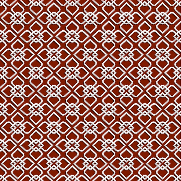 3d white pattern in islamic style