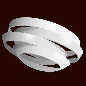 3d white rings