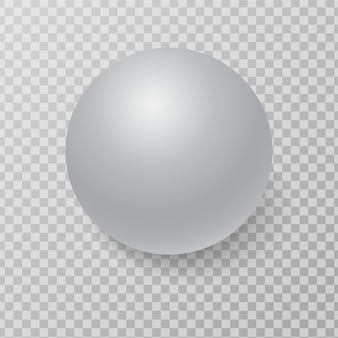 3d white sphere ball with realistic light and shadow.