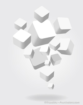 3d белые квадраты