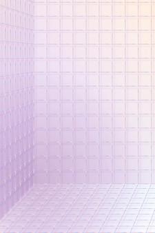 Sfondo della stanza della griglia wireframe 3d
