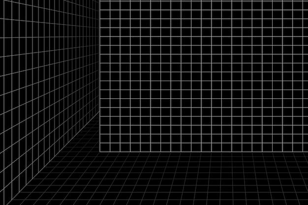 3d каркасная сетка комната фон