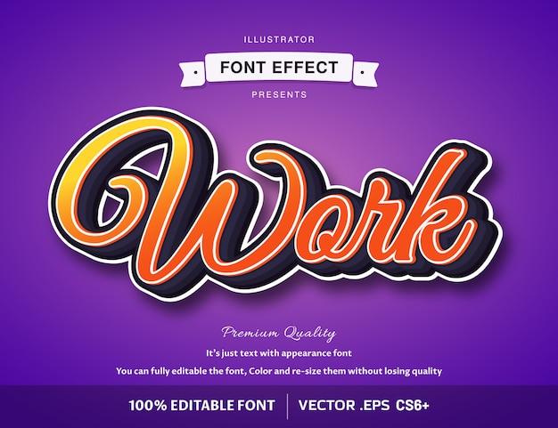 3d work -  easy editable font effect