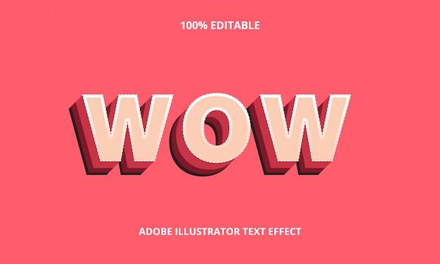 3d wow text effect premium