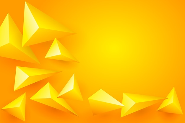 3 dの黄色の多角形の背景