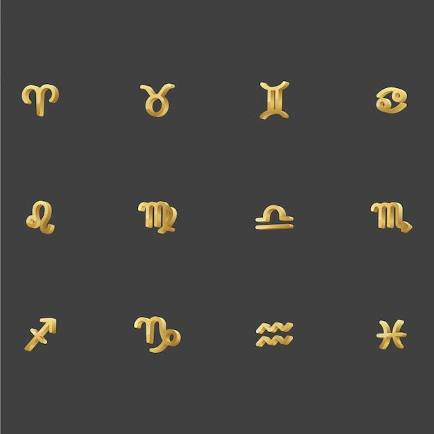 Символ 3d зодиака