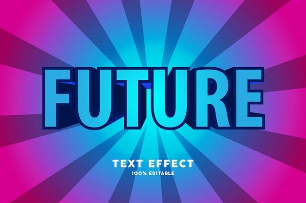 3d zoom future blue text efffect, editable text