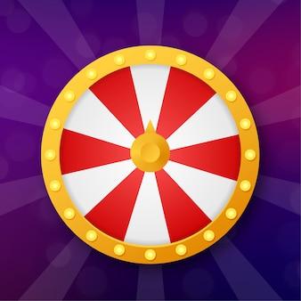Рулетка 3d фортуна. колесо фортуны для игры и выиграть джекпот. концепция интернет-казино. интернет казино маркетинг. иллюстрации.