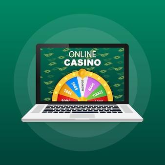 Рулетка 3d фортуна. колесо фортуны для игры и выиграть джекпот. концепция интернет-казино. интернет казино маркетинг