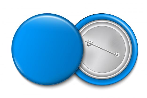 Кнопка штыря 3d, пустой шаблон броши значка.