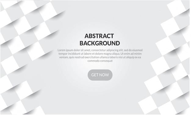 Абстрактная белая геометрическая форма фона с 3d стиль бумаги