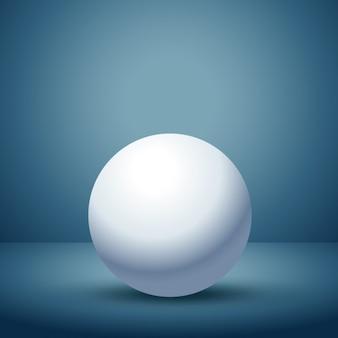 空のクリーンルーム内の3d球体