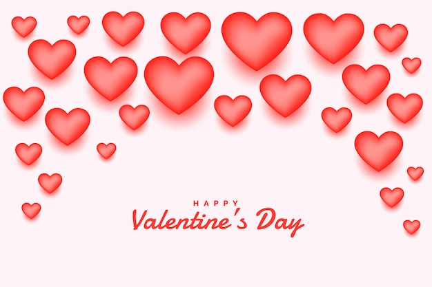 Розовые 3d сердца с днем святого валентина открытки