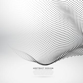 サイバー技術スタイルで抽象的な3d粒子波動メッシュ