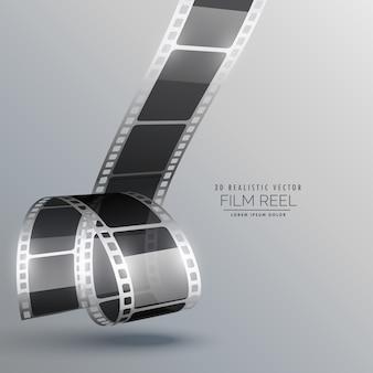 リアルな3dフィルムストリップベクトルのデザイン