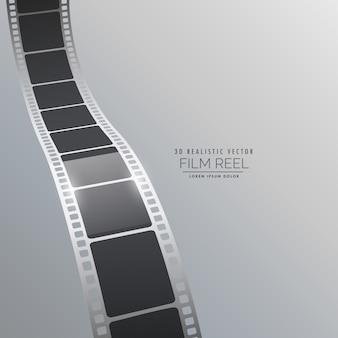 3dフィルムストリップの背景デザインをベクトル