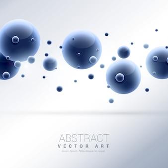 3d синие молекулы абстрактный фон
