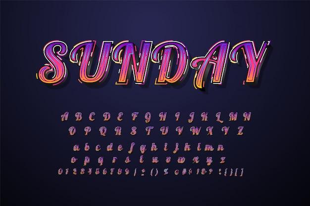 Великолепный шрифт 3d жирный шрифт