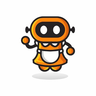 ロボットのロゴ、テンプレート、小話。 3d、