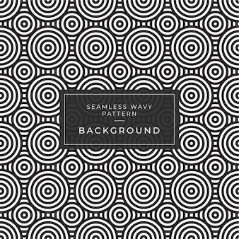 Абстрактные черно-белые полосатые 3d волны рябь оптическая иллюзия. океанская волна художественный узор для печати баннера и веб