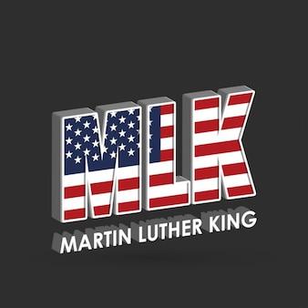 マーティン・ルーサー・キング・ジュニアのための3d背景。日