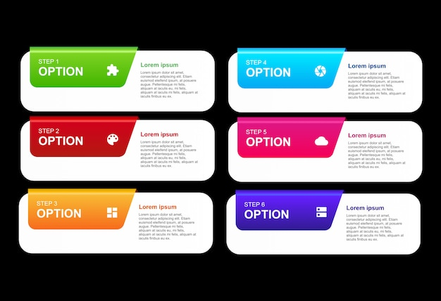 3d инфографики с вариантами дизайна шаблона