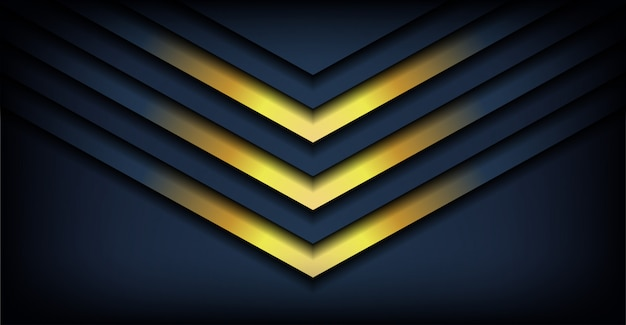 Абстрактные 3d вектор темная линия стрелка с тенью