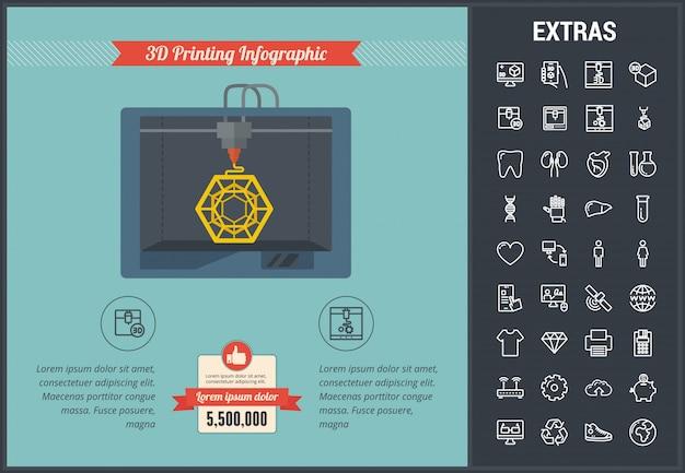 3d печать инфографики шаблонов и элементов