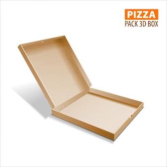 3dボックスのイラストを包装ピザボックス