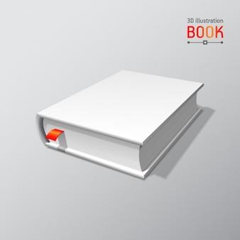 Пустая книга макет с тенью изолированных 3d векторные иллюстрации