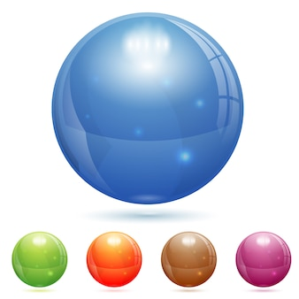 3d стеклянный шар