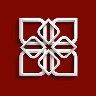 Белый 3d орнамент в арабском стиле