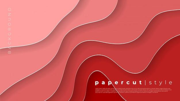 Горизонтальные баннеры с 3d абстрактного фона и бумаги вырезать фигуры.