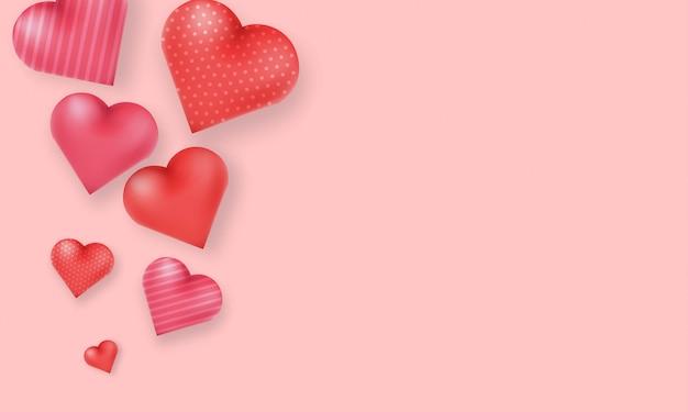 Иллюстрация формы влюбленности сердца 3d