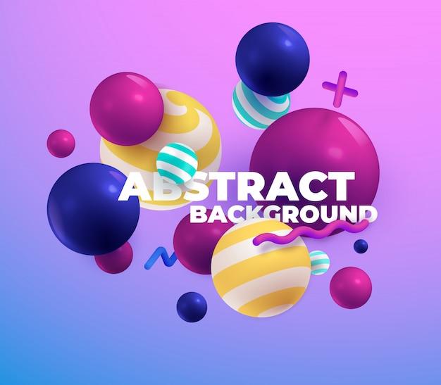Разноцветные 3d шары. аннотация.