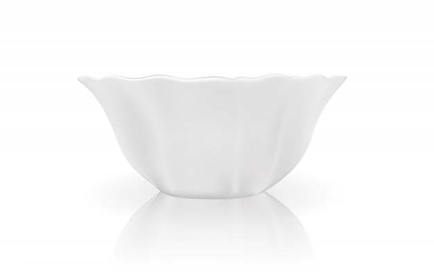 白い皿のリアルな3dモデル