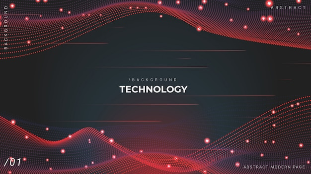 Фон технологии частиц 3d-сети