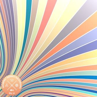 カールしたストライプとベクトルの抽象的な背景。 3dストライプの錯覚。