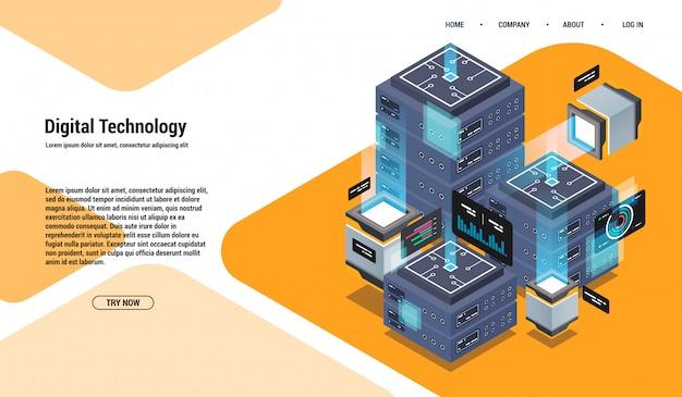 Анализ и инвестиции. концепция визуализации данных. 3d изометрии