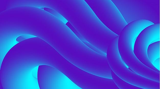 Абстрактная современная синяя 3d жидкость форма фон