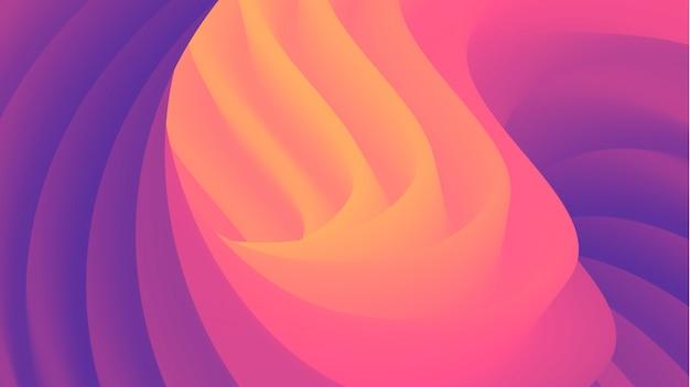 Абстрактная современная 3d жидкость форма фон