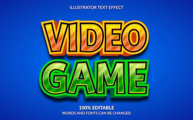 編集可能なテキスト効果、3dビデオゲームのテキストスタイル