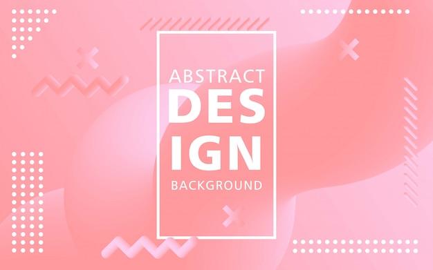 Креативный современный дизайн 3d формы потока. розовые жидкие волны фоны.
