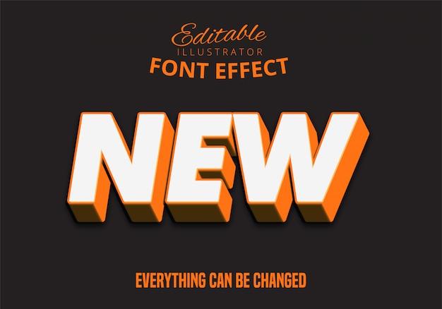 3d сильный жирный оранжевый текстовый эффект