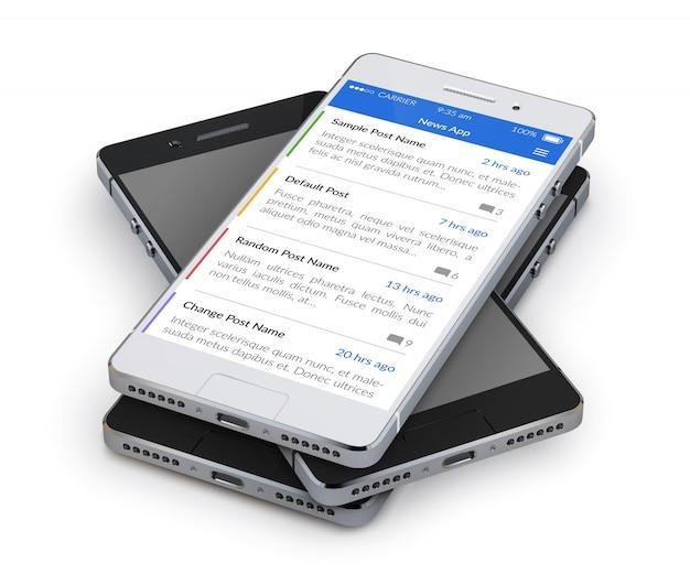 Реалистичный 3d смартфон