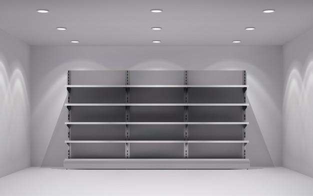 Реалистичный 3d интерьер магазина