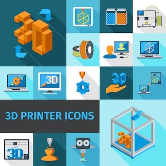 Принтер 3d иконки